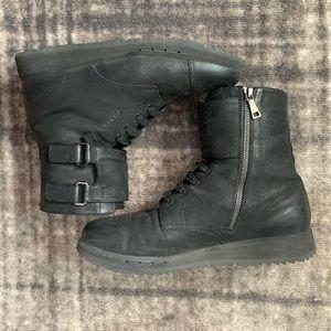 Men's Prada Black Combat Boots